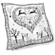 Textile suisse : nappes, mouchoirs, coussins, foulard ...