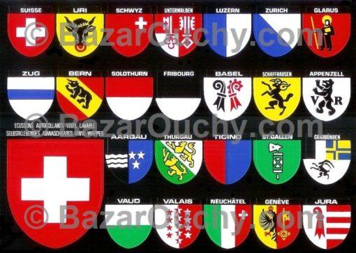 Autocollant cantons suisse
