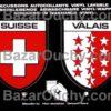 Ecussons valais et suisse autocollant