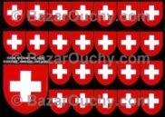 Autocollant écusson croix suisse