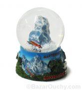 Boule à neige montagne suisse