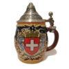 Chope bière écusson suisse