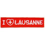 ecusson brodé I love Lausanne