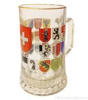 Chope à bière suisse croix écusson