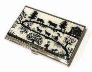Porte carte de visite suisse poya découpage