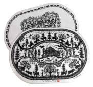 Set de table découpage suisse noir et blanc