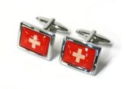 bouton manchette croix suisse