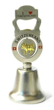 Cloche de table croix suisse