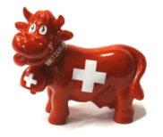 Statue vache croix suisse