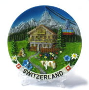 Assiette paysage suisse