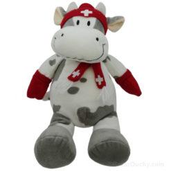 Peluche Vache Suisse Bonnet Echarpe Gants