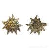 Broche edelweiss métal