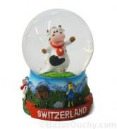 Boule à neige vache suisse