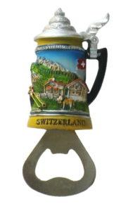 Decapsuleur forme chope biere suisse