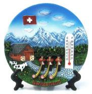 Assiette paysage suisse souvenir