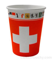 Gobelet croix suisse à jeter