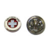 Pin's Croix suisse rond