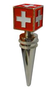 Bouchon vin croix suisse