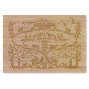 Carte postale en bois et relief
