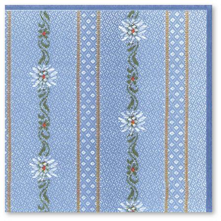 Serviettes papier edelweiss - Serviette en papier motif ...