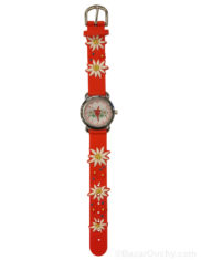 Montre edelweiss rouge