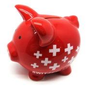 Tirelire cochon suisse