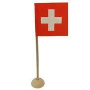 Drapeau suisse table pied