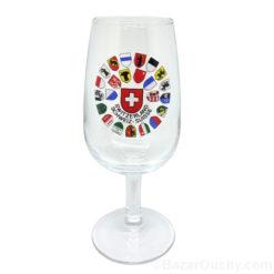 Verre a vin pied canton suisse