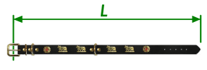 Longueur-collier-chien-vache-metal-appenzellois