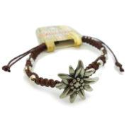 Bracelet edelweiss fleur suisse