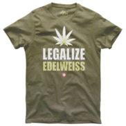 t shirt legalize edelweiss