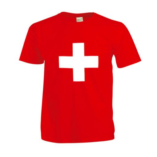 T shirt croix suisse enfant