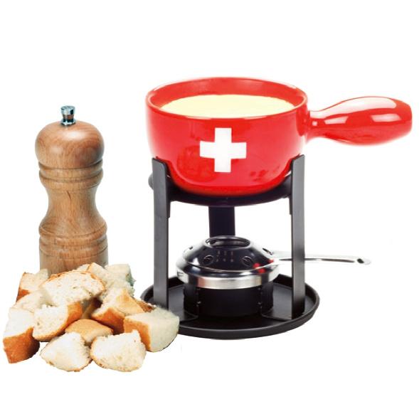 Set A Fondue Caquelon Croix Suisse Mini