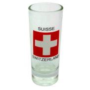 Petit verre a shot croix suisse