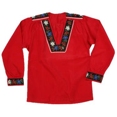 Chemise suisse armailli traditionnelle