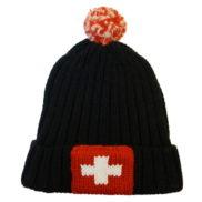 Bonnet en laine croix suisse