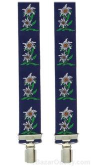Bretelles fleur edelweiss bleu