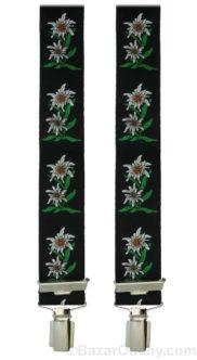 Bretelle edelweiss noir