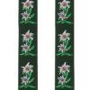Bretelles edelweiss vert