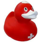 Canard en plastique croix suisse