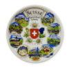 Assiette paysage suisse porcelaine