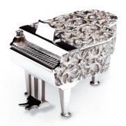 Boite à musique Reuge Piano en argent