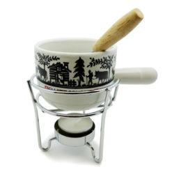 Caquelon fondue chocolat découpage