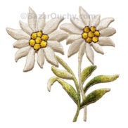 Patch edelweiss brodé