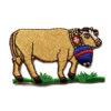 Vache brodée à coudre