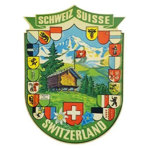 Decalcomanie paysage suisse