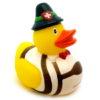Canard de bain costume suisse