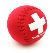 Balle anti stress croix suisse