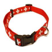 Collier de chien croix suisse
