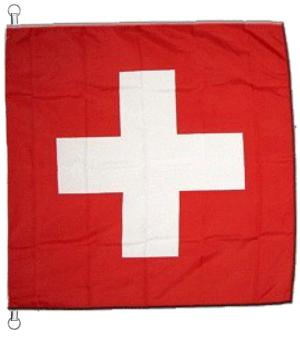 Drapeau suisse à suspendre